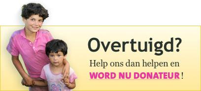 Overtuigd? Help ons helpen en word donateur!